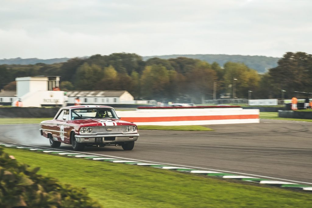 Ford Galaxie 500 V8 engine blows up at Goodwood SpeedWeek