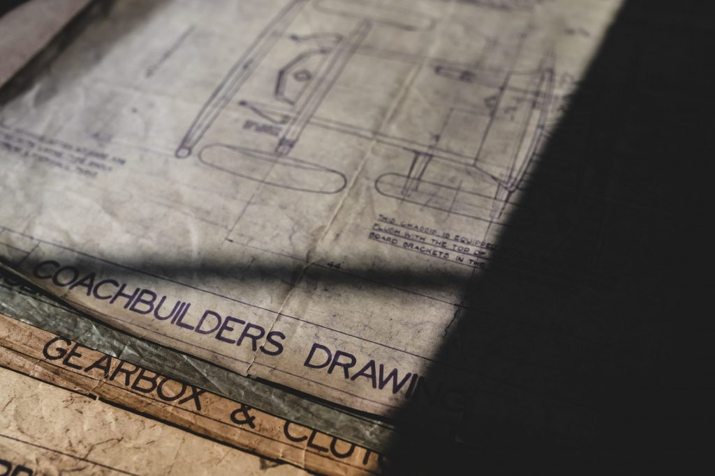 Alvis original blueprints for cars