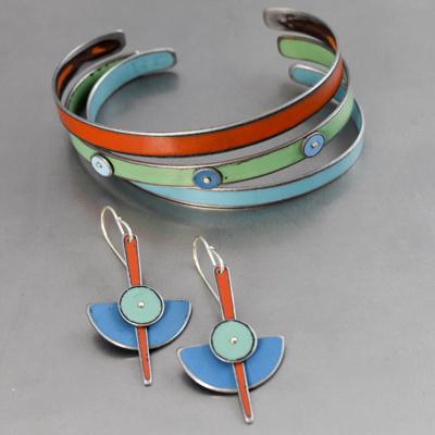 earrings and bracelet by Joyride Jewelry