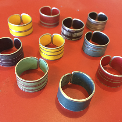 Rings made by Joyride Jewelry