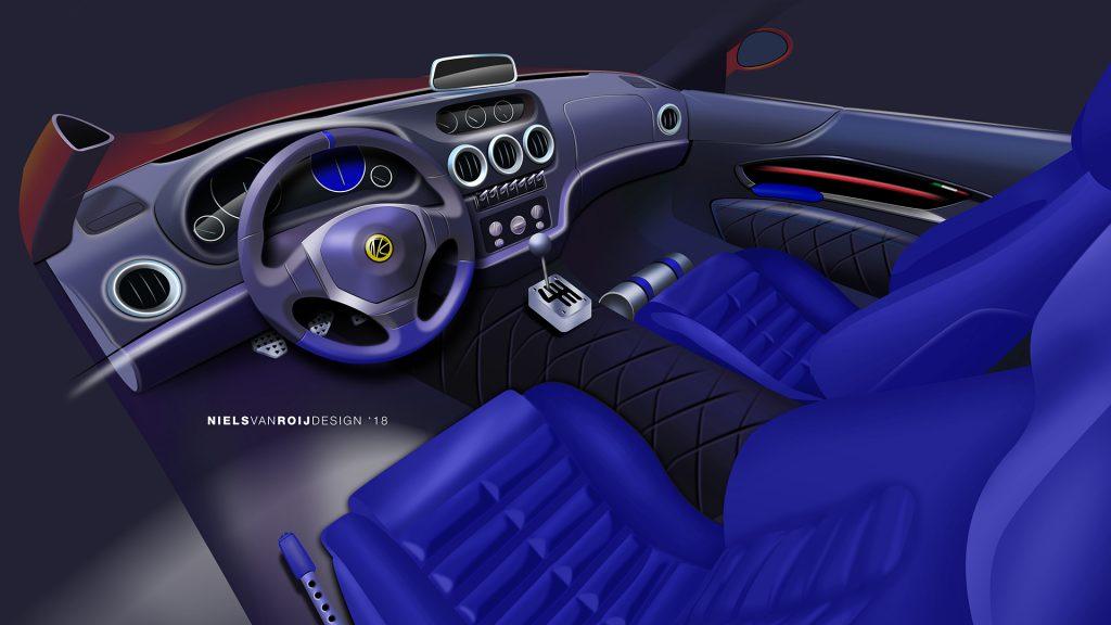 Modern Ferrari Breadvan interior sketch