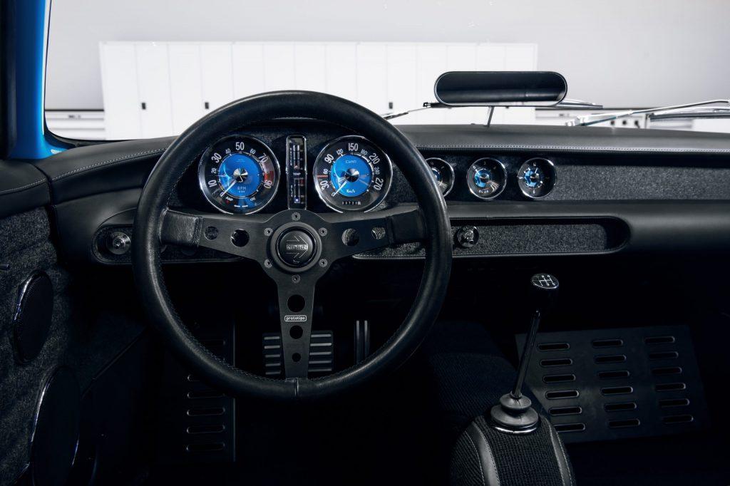 Inside the Volvo P1800 Cyan restomod