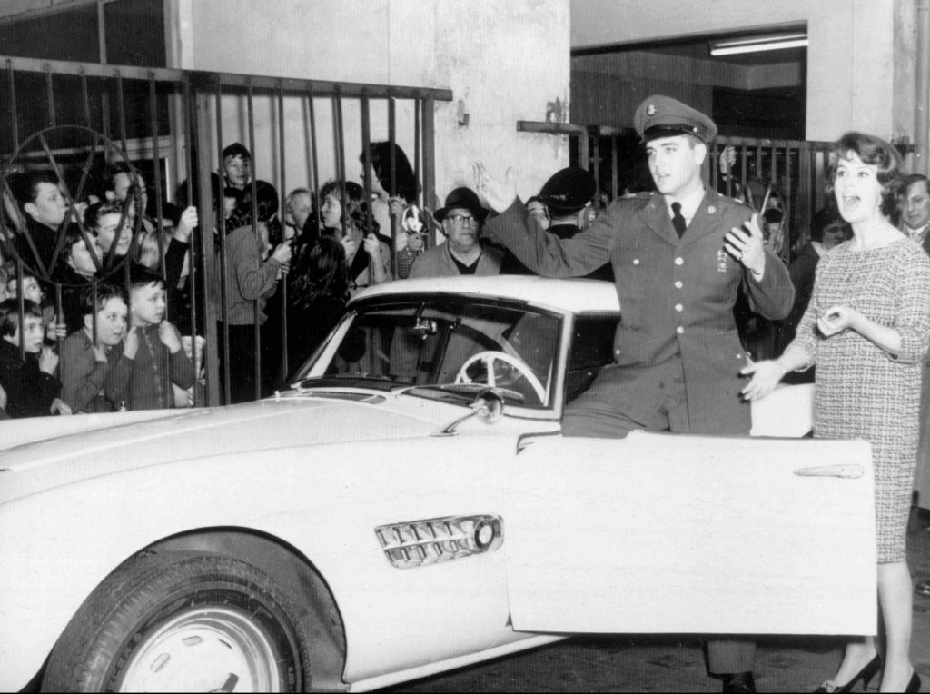 Elvis Presley with the BMW 507 that influenced the Z8