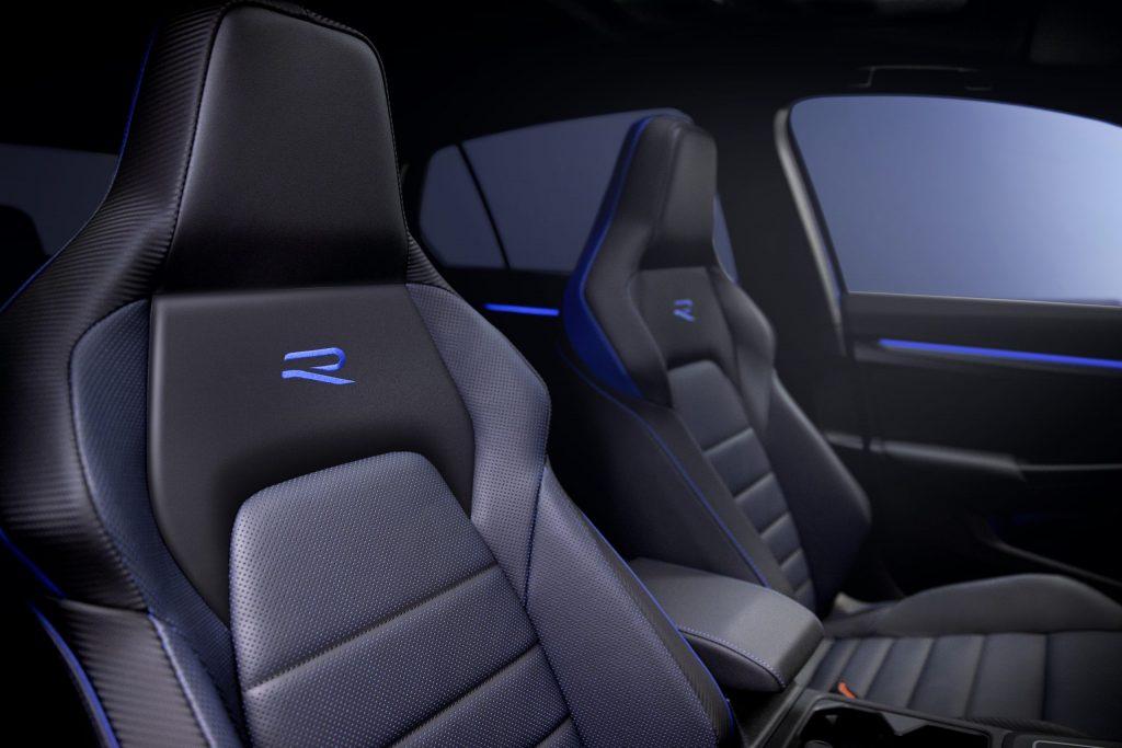 2021 Volkswagen Golf R interior and sports seats