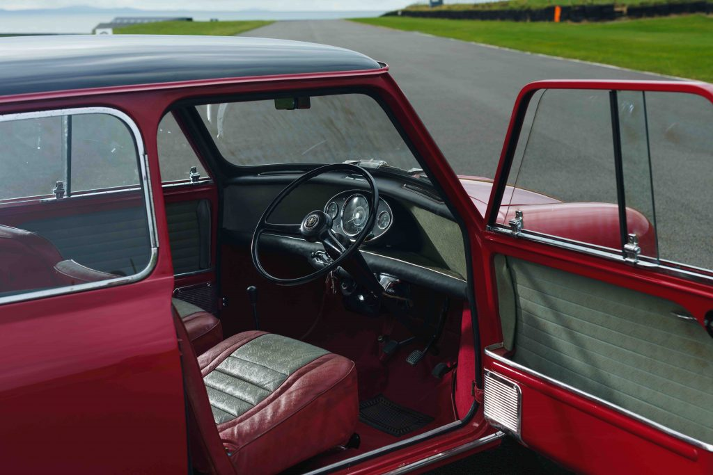Original 1961 Mini Cooper interior