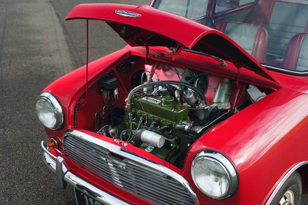 Original 1961 Mini Cooper engine