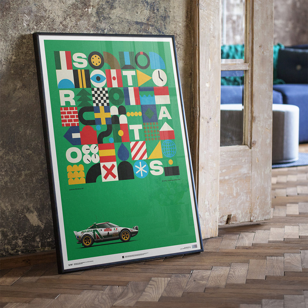 Lancia Stratos poster_2020 Christmas gift ideas for car enthusiasts_Hagerty