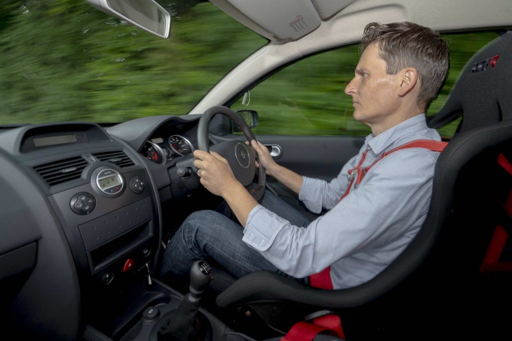 James Mills drives the RenaultSport Megane R26R
