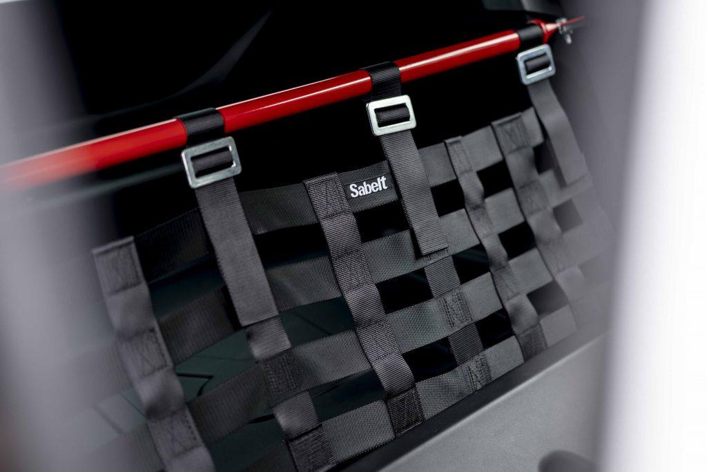 Renault Megane trophy R rear strut brace and webbing