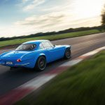 A driver's-eye view of the new Volvo P1800 Cyan