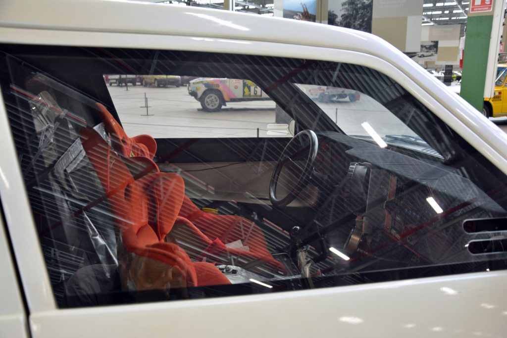 Lancia ECV 2 prototype rally car interior of 1988