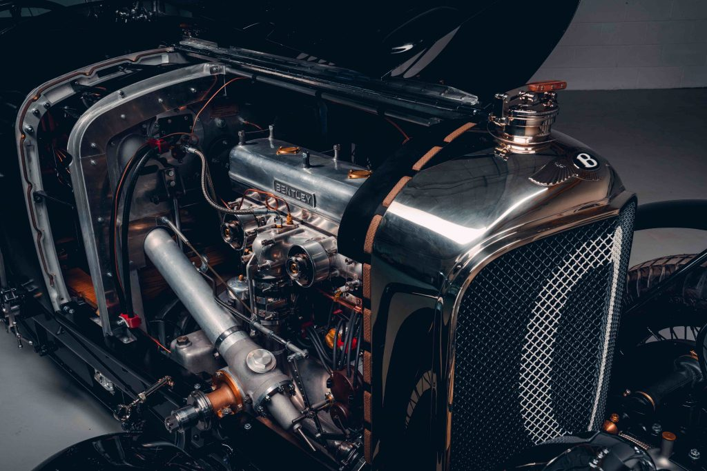 1929 Bentley Blower continuation car engine shot