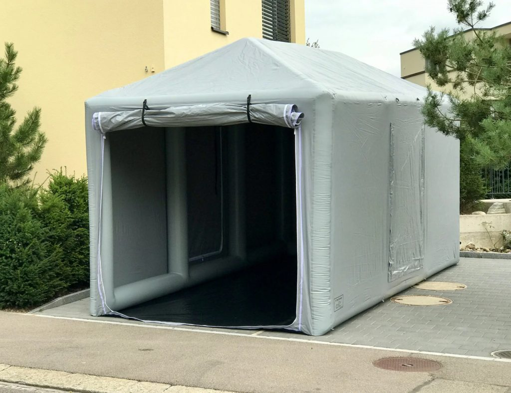 Car Shield is an outdoor portable garage structure for car storage