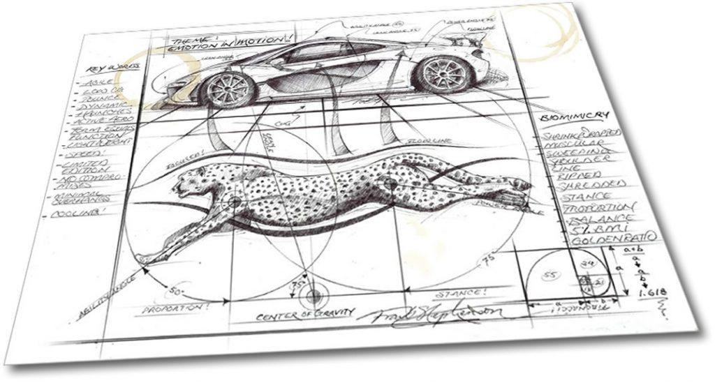 McLaren P1 sketch Frank Stephenson