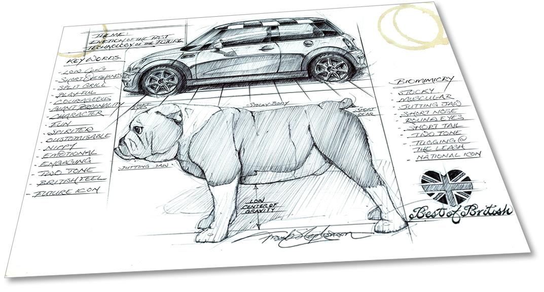 Mini and McLaren designer sells sketches for charity