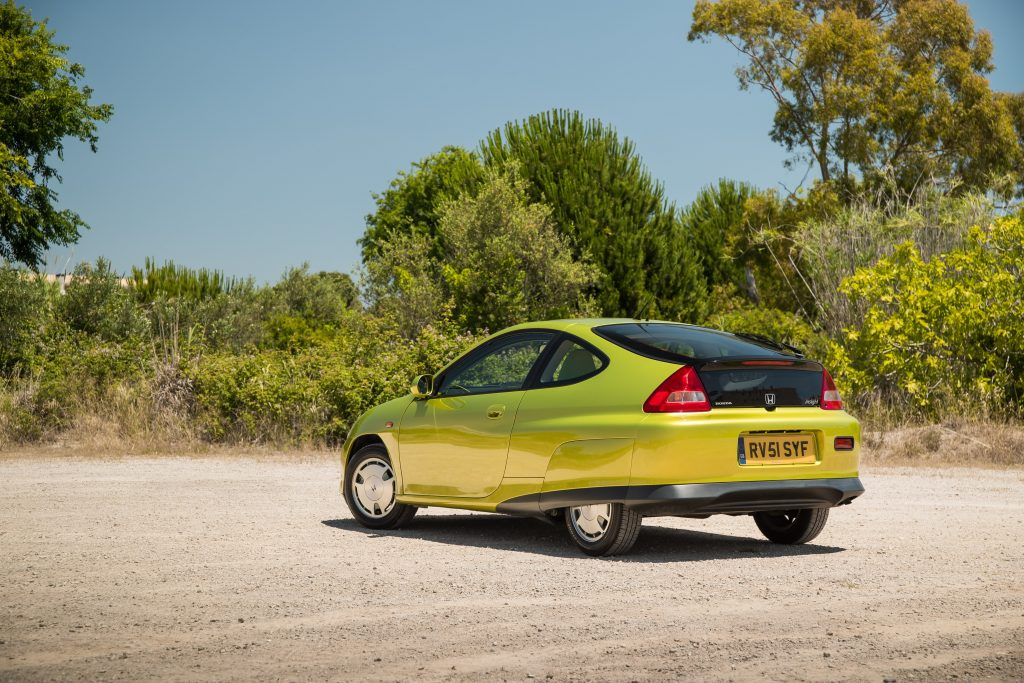 Honda Insight ZE1 1999 and on rear view