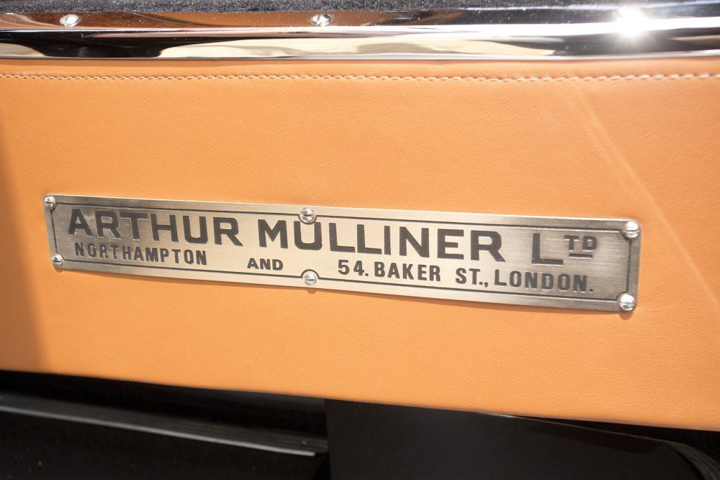 Arthur Mulliner plaque in Bentley 8 Litre