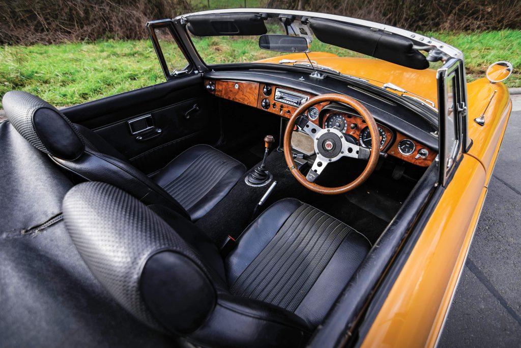 MGB Roadster interior