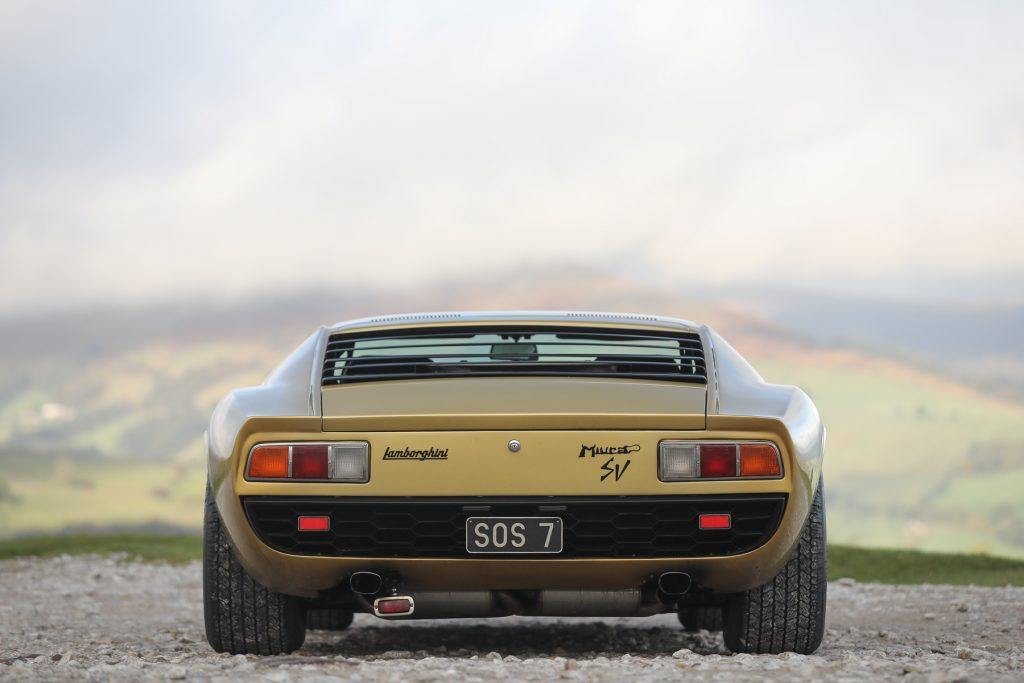 1971 Lamborghini Miura P400 SV Speciale sold for 86 per cent above the Hagerty Price Guide