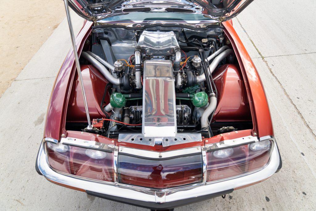 Citroen SM Bonneville racer V6 twin turbo engine