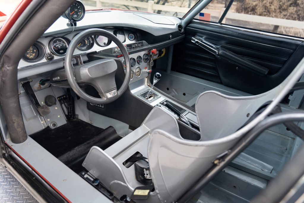 Citroen SM interior of two truck and land-speed racer