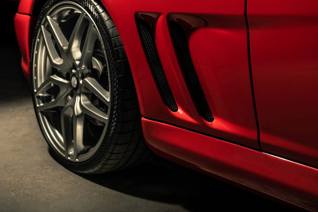 Ferrari Breadvan Hommage wheel and air vent