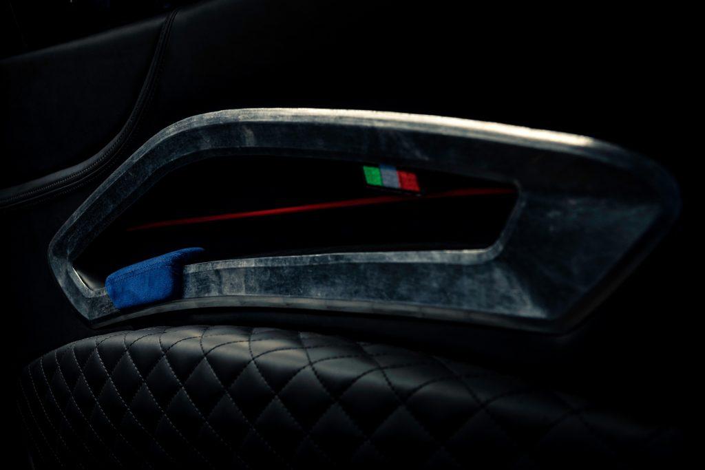 Ferrari Breadvan Hommage door handle and detail