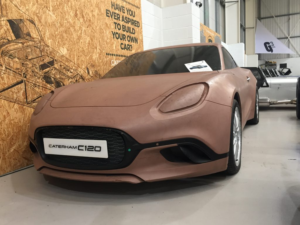 Caterham C120 Alpine sports car styling buck