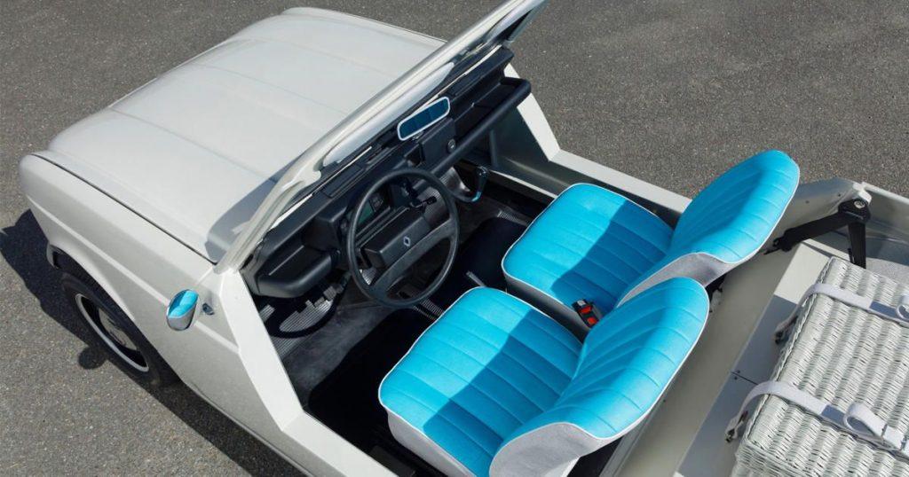 Renault 4-e-plein-air electric concept interior
