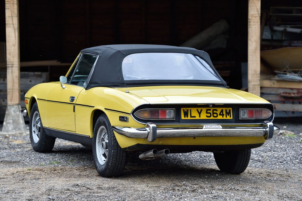 Triumph Stag roof costs less than £1000 to replace