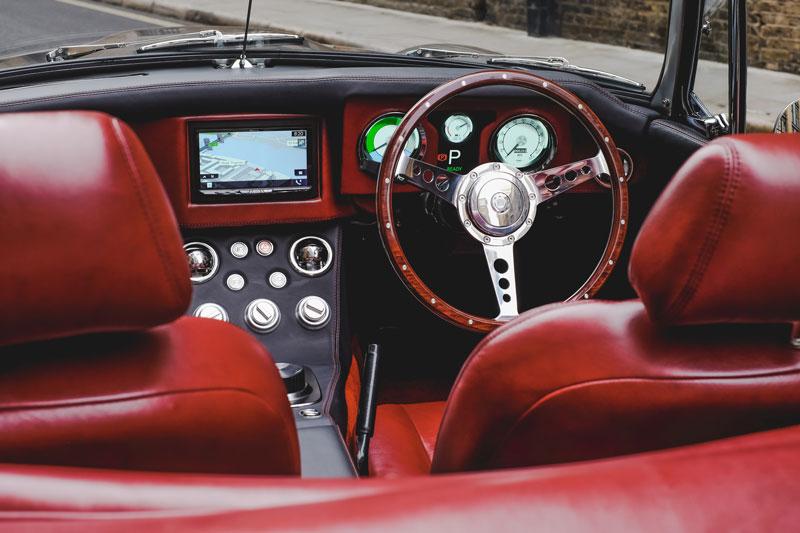 RBW MG B roadster EV interior