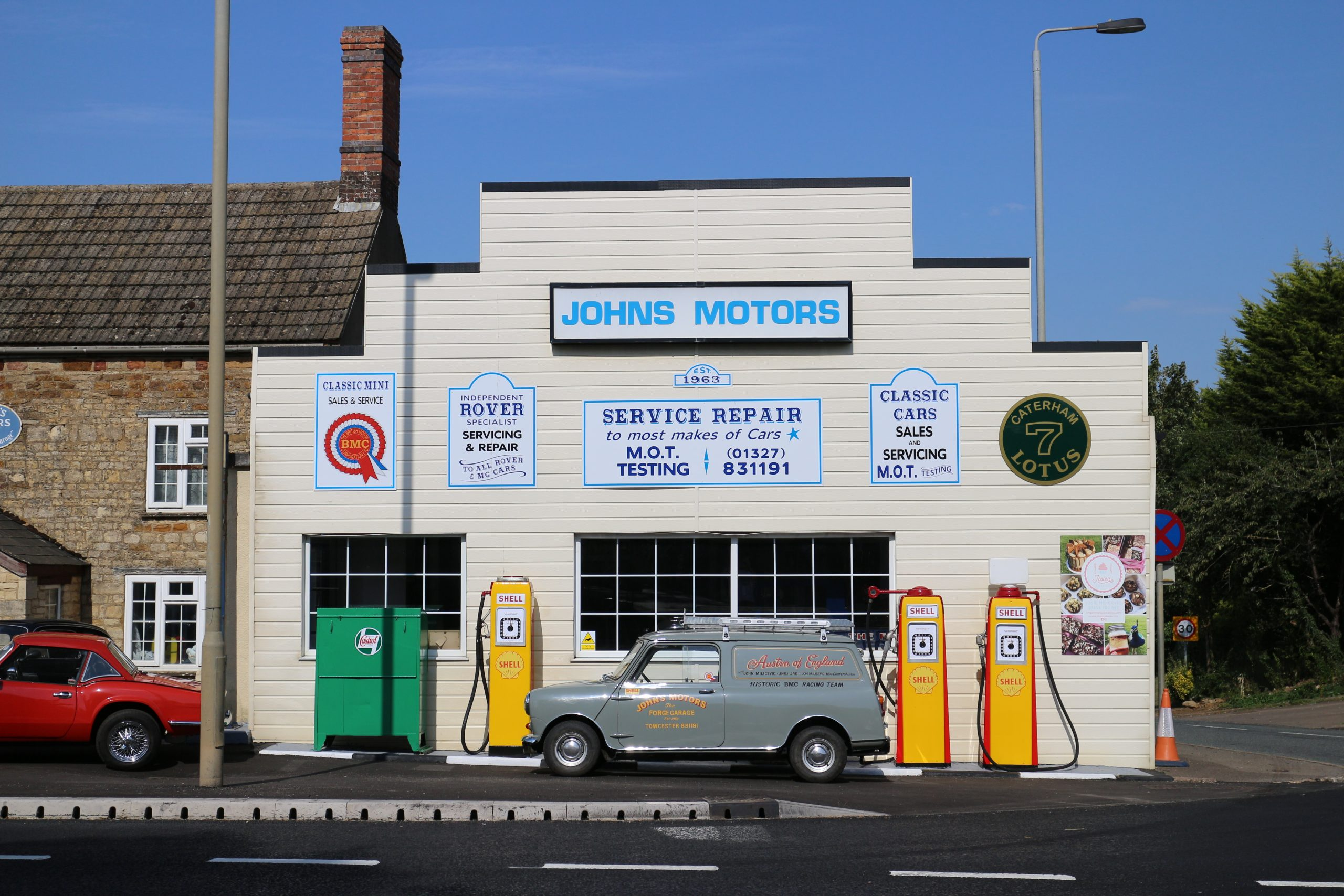 Take a tour of Britain's preserved and crumbling local petrol stations