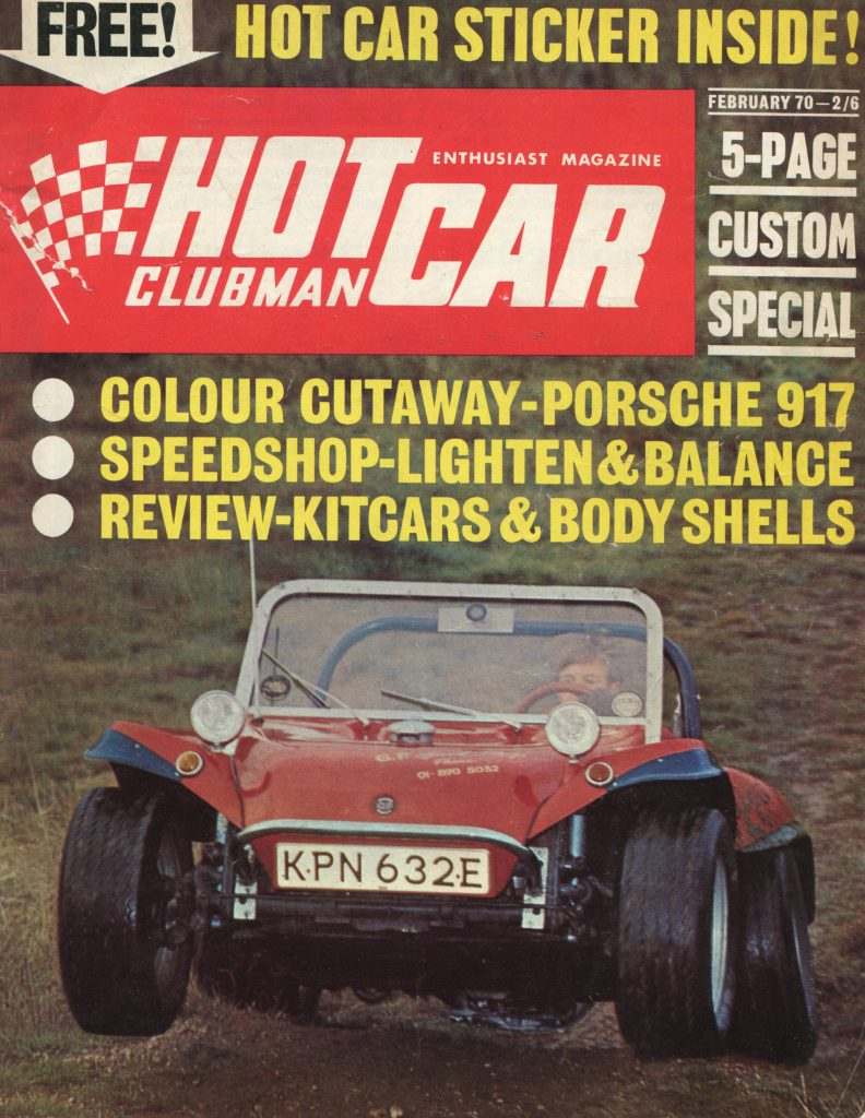 GP Buggy on cover of Hot Car magazine