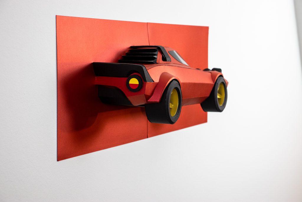 Lancia Stratos paper car model