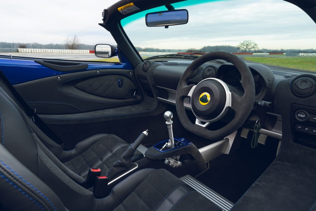 Lotus Elise Sport 240 Final Edition interior