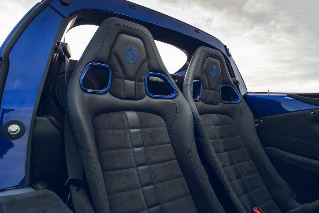 Lotus Elise Sport 240 Final  Edition sports seats
