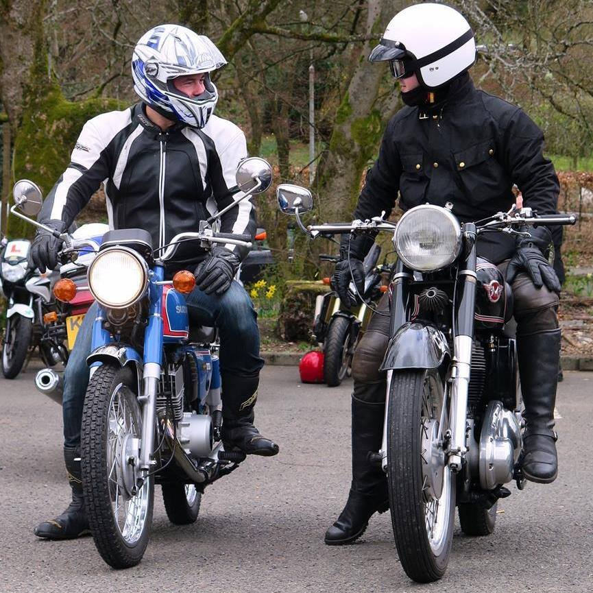Chris (left) and Scott Linford are classic bike fans