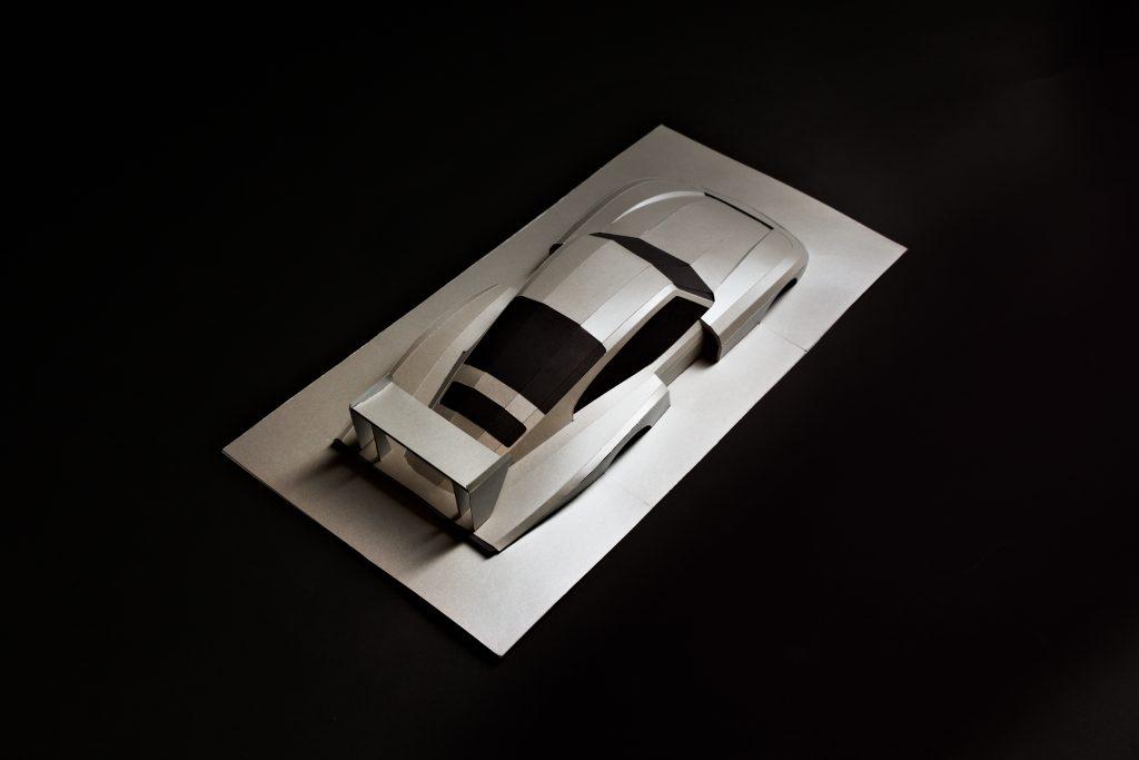 Porsche 935 paper car model Paperlegends