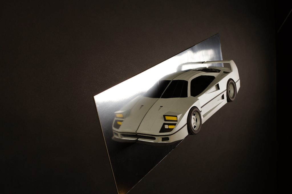 Paperlegends Ferrari F40 paper car model