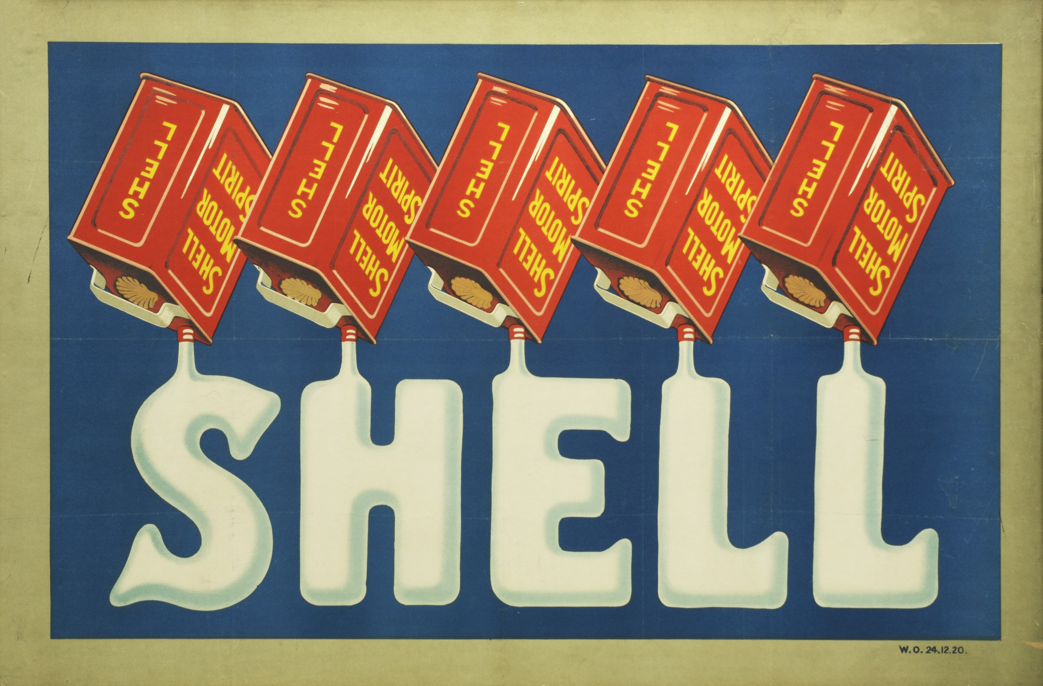 The first ever Shell Lorry Bill advert, from 1920