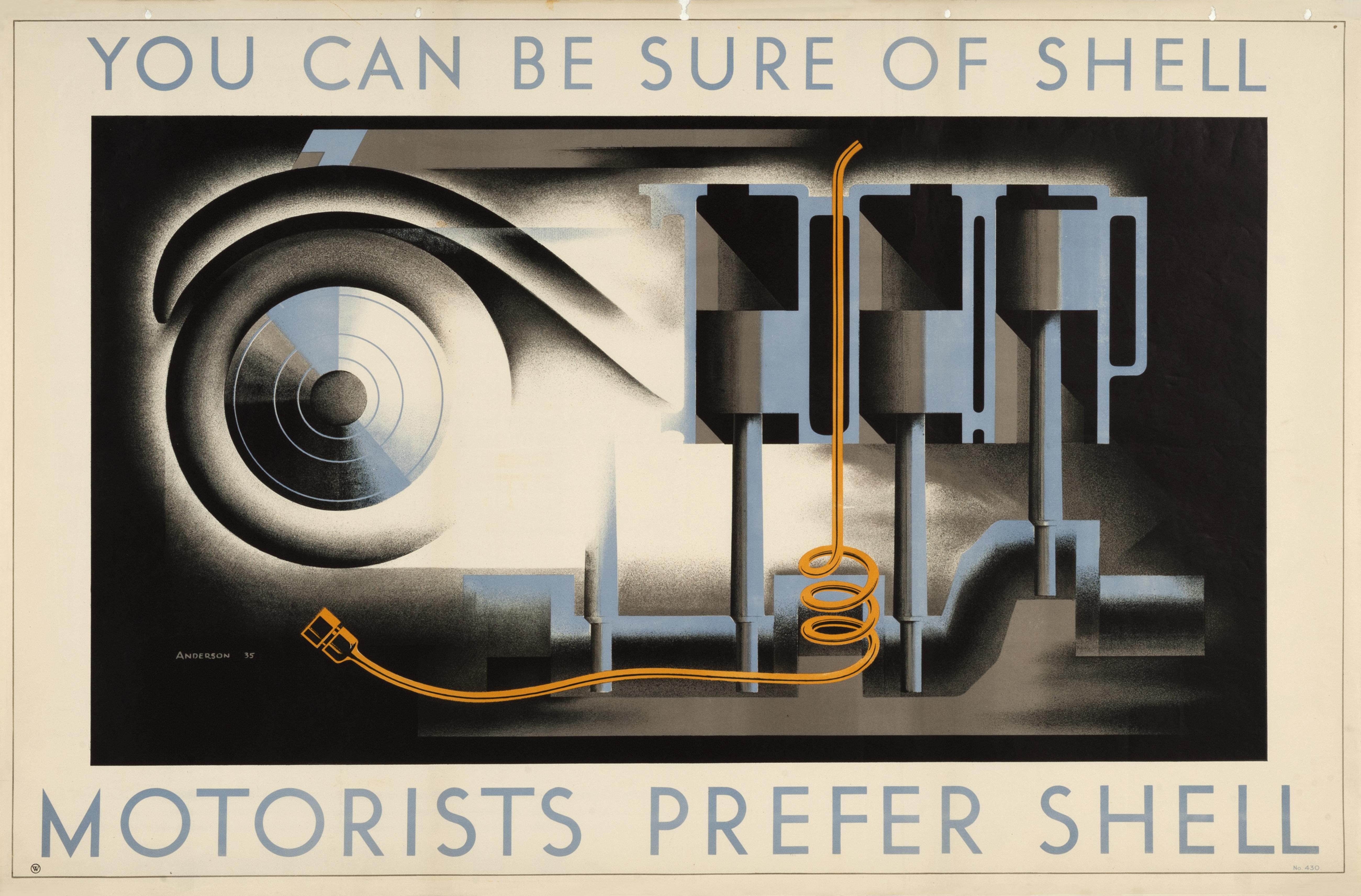 Motorists Prefer Shell by John Stewart Anderson, 1935