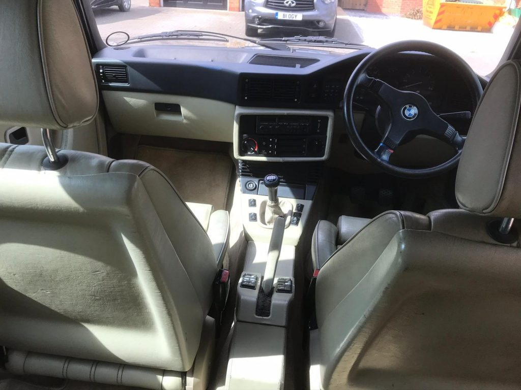 BMW M5 E28 interior