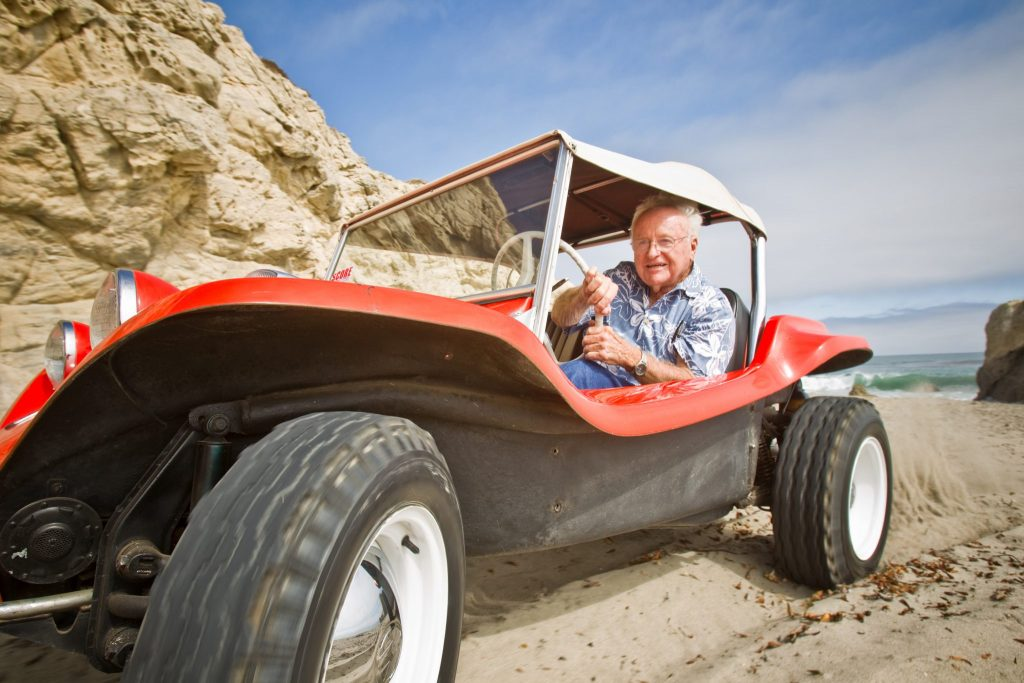 Bruce Meyers with the Meyers Manx buggy