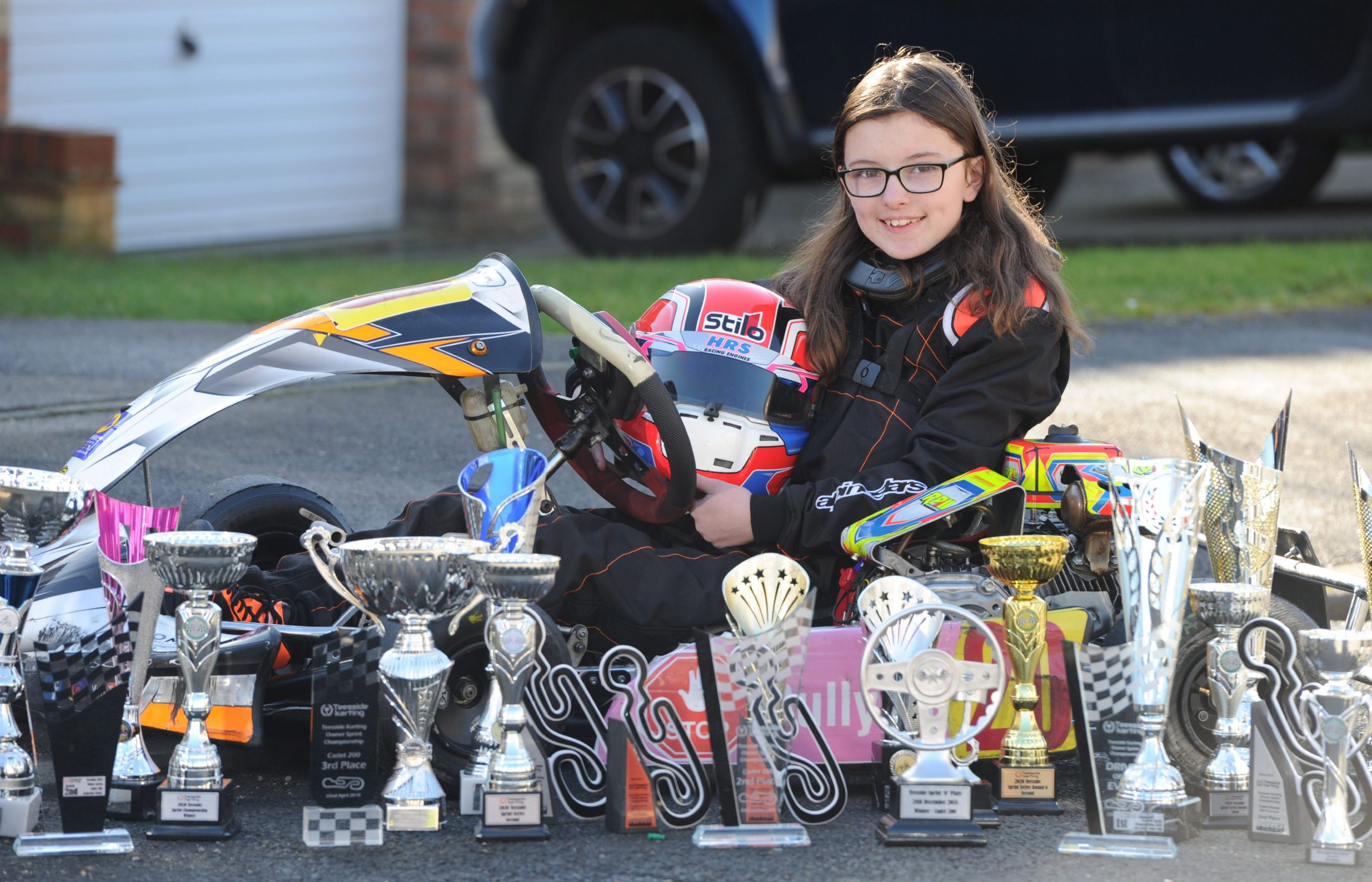 The 13-year old role model leading by example and winning on track