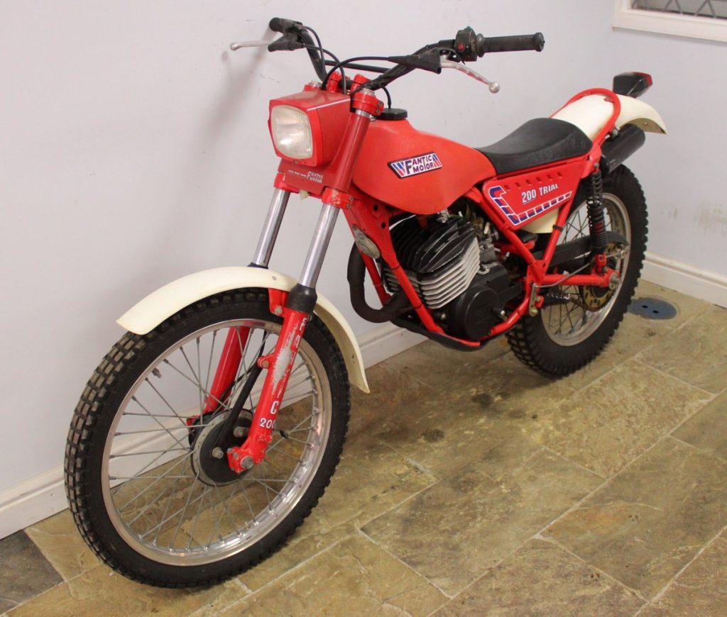Fantic 200 trials bike is a sought-after classic