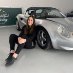 Elisa Artioli and her Lotus Elise