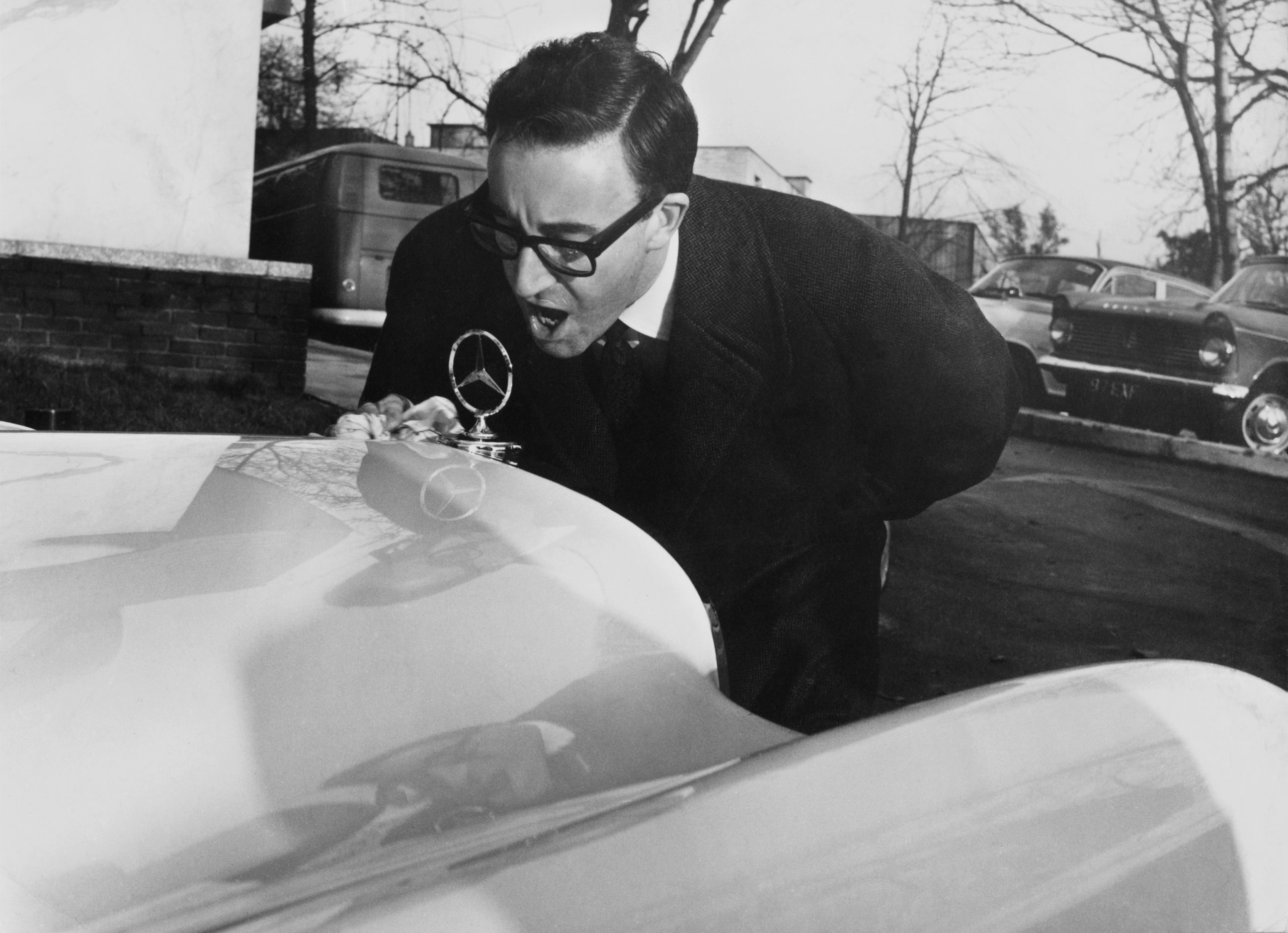 The curious case of car-addicted Peter Sellers and a Mercedes 450 SLC