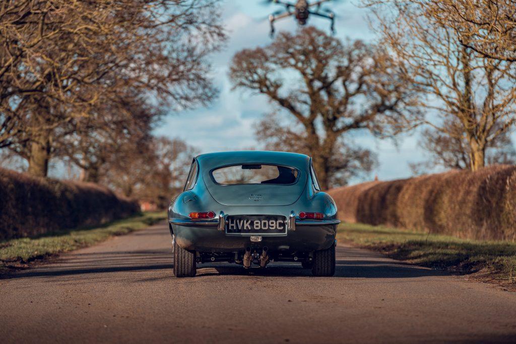 Jaguar E-Type Series 1 rear view