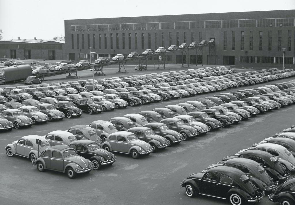 1956 Volkswagen Beetle production