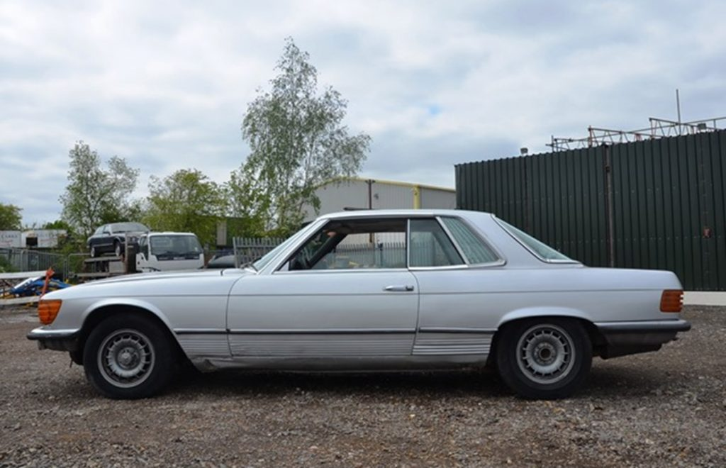 Ex Peter Seller Mercedes 450 SLC before it was restored